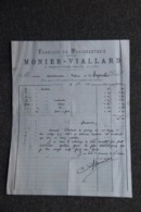 Facture Ancienne - ST GERMAIN L'HERM, MONIER VIALLARD : Fabrique De Passementerie. - France