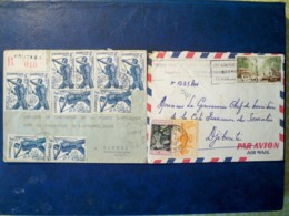 Colonies Françaises-  15 Lettres Et Cartes Timbrées Diverses Colonies - Voir Détails  Lot Très Interessant - Briefmarken
