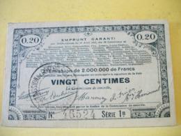 A 2493 EMPRUNT GARANTI DES 70 COMMUNES 20 CENTIMES 23. 04. 1915. Sie 1 B - Buoni & Necessità