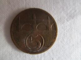 Czechoslovakia: 5 Heller 1923 - Czechoslovakia