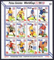Soccer World Cup 1994 - Football - PALAU - 3 Sheets MNH - Coupe Du Monde