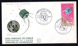 Côte Française Des Somalis FDC Centenaire U.I.T. Mai 1965 - Côte Française Des Somalis (1894-1967)