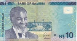 BILLETE DE NAMIBIA DE 10 DOLLARS DEL AÑO 2015 (BANKNOTE) GACELA-DEER - Namibia