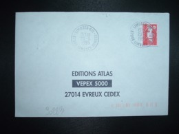LETTRE TP M. DE BRIAT TVP ROUGE OBL.20-11 1995 LIMOGES AIR 87998 LIMOGES ARMEES - Militärstempel Ab 1900 (ausser Kriegszeiten)