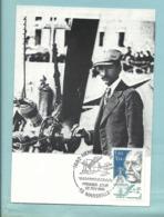 Carte Maximum  France 22/2/1986 Aviateur Henri Fabre Inventeur De L' Hydravion Devant Son Moteur Gnome Et Rhone - Airplanes