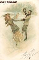 SERIE DE 4 CPA : LITHOGRAPHIE NISTER NUREMBERG COUPLE AMOUR STYLE VIENNOISE H.C. WOLF PARIS 1900 - Ilustradores & Fotógrafos