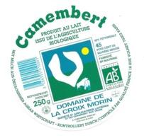 ETIQUETTE De FROMAGE. CAMEMBERT Agriculture Biologique.. Domaine De LA CROIX MORIN - Kaas