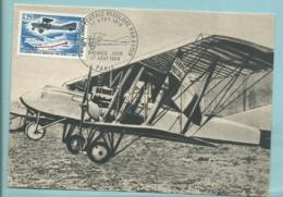 Carte Maximum  France Avion Bimoteur Letord 4 A 8 50 ème Aniversaire  1ère Liaison Postale Pilote Houssais St Nazaire - Airplanes