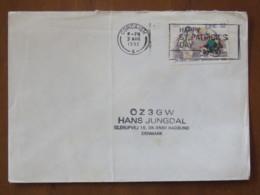 Ireland 1992 Cover Corcaigh To Denmark - Olympic Games Barcelona Boxing - 1949-... République D'Irlande