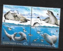 ANTARCTIQUE AAT 2001 N° 145/148 ** Neufs MNH Superbes Faune Oiseaux Manchots Léopard De Mer Marine - Unused Stamps