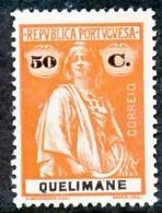!■■■■■ds■■ Quelimane 1914 AF#39* Ceres 50 Centavos Chalky (x2158) - Quelimane