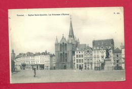 C.P. Tournai  =  Eglise  Saint-Quentin +  La  Princesse D'  Epinoy - Tournai