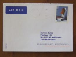 Ireland 2001 Cover To Holland - Sailboats - Boat - 1949-... Repubblica D'Irlanda