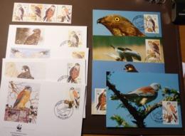 1991  Malta Mi. 864-867 Fauna & Animals  Birds  Birds Of Prey  Falcon  WWF Maxi Card FDC MNH ** #cover 4977 - W.W.F.