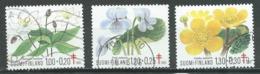 Finlande YT N°896/898 Oeuvres Antituberculeuses Plantes Sauvages Oblitéré ° - Finnland