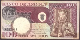 Portugal   1973 -  100$00 Escudos  / Serie GG22021 Angola 10-06-1973 Luis De Camões - Portogallo