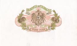ETIQUETA  FABRICA DE TABACOS FLOR FINA - ( CUBA ) - Advertising Items