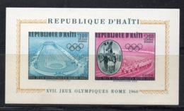 Y2217 - HAITI 1960,  Il Foglietto N. 14 ***  MNH  (2380A)  Roma - Haiti