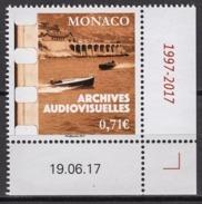 MONACO 2017  -Y.T. N° 3105 ( LES ARCHIVES AUDIOVISUELLES ) - NEUF ** - Ongebruikt