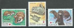 Finlande YT N°877/879 Croix-Rouge Mammifères En Voie D'extinction Neuf ** - Finnland