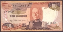 Portugal   1972 -  100$00 Escudos  / Serie LP 56985 Angola 24-11-1972 Marechal Carmona - Portogallo