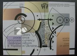 Ukraine Coins Set Coins For Circulation 2016 20 Years Since Currency Reform In Ukraine - Ukraine