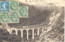 POSTAL    SAHORRE -(PYR..OR.)  FRANCIA  -LIGNE ÉLECTRIIQUE DE LA CERDAGNE -VIADUC DE LA CABANASSE - Francia