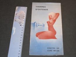 THERMES D'OSTENDE - DEPLIANT PUBLICITAIRE -années 30 - Publicités