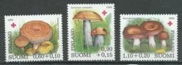 Finlande YT N°828/830 Croix-Rouge Champignons Neuf ** - Finlande