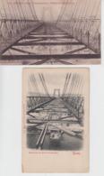 Lot De 2 CPA Rouen - Pont Transbordeur - Ossature Supérieure / Perspective - Rouen
