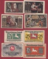 Allemagne 4 Notgeld  Stadt Braunschweiger  (Série Complète)  Dans L 'état N °27 - [ 3] 1918-1933 : Repubblica  Di Weimar