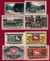Allemagne 4 Notgeld  Stadt Braunschweiger  (Série Complète)  Dans L 'état N °28 - [ 3] 1918-1933 : Repubblica  Di Weimar