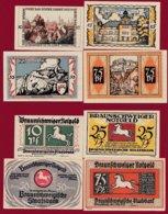 Allemagne 4 Notgeld  Stadt Braunschweiger  (Série Complète)  Dans L 'état N °29 - [ 3] 1918-1933 : République De Weimar