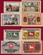 Allemagne 4 Notgeld  Stadt Braunschweiger  (Série Complète)  Dans L 'état N °29 - [ 3] 1918-1933 : Repubblica  Di Weimar