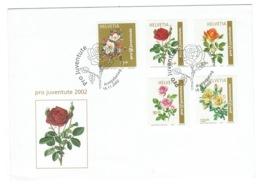 Suisse//Schweiz//Svizerra // Switzerland// Pro- Juventute // 2002 // Lettre (FDC) Avec Série Oblitérée 1er Jour - Pro Juventute