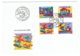 Suisse//Schweiz//Svizerra // Switzerland// Pro- Juventute // 2003 // Lettre (FDC) Avec Série Oblitérée 1er Jour - Pro Juventute