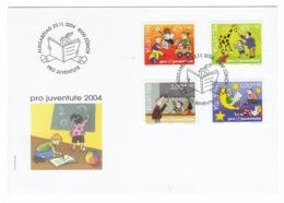 Suisse//Schweiz//Svizerra // Switzerland// Pro- Juventute // 2004 // Lettre (FDC) Avec Série Oblitérée 1er Jour - Pro Juventute