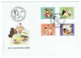 Suisse//Schweiz//Svizerra // Switzerland// Pro- Juventute // 2005 // Lettre (FDC) Avec Série Oblitérée 1er Jour - Pro Juventute