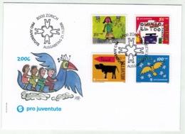 Suisse//Schweiz//Svizerra // Switzerland// Pro- Juventute // 2006 // Lettre (FDC) Avec Série Oblitérée 1er Jour - Pro Juventute