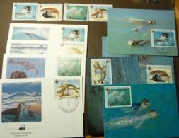 Mauritanie 1986 WWF Mittelmeer-Mönchsrobbe  Phoques  Michel 871-874  Maxi Card FDC MNH ** #cover 4985 - W.W.F.