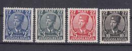 Yugoslavia Kingdom, King In Exile, London Issue 1943 Mi#441-444 Mint Never Hinged - 1931-1941 Regno Di Jugoslavia