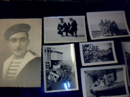 PHOTOS Personnages Marins Métiers De La Mer Lot De 8 - Persone Anonimi