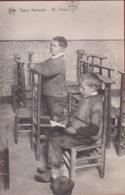 Folklore Types Flamands Wooden Logs Klompen En Priere Biddende Jongens Prayer Catholic Youth Praying - United States