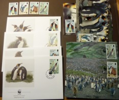 Falkland Island 1991 Mi.Nr. 541 -44  , Königspinguin  King Penguin   Maxi Card FDC MNH ** #cover 4986 - W.W.F.