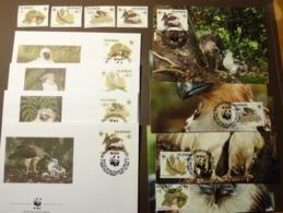 WWF Philippines Philippine Pilipinas Eagle Adler Birds Prey Greivögel 1991 Mi. 2038-41  Maxi Card FDC MNH ** #cover 4987 - W.W.F.
