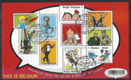 OCB Nr 4258/67  BL201 Bloc 201 Strip BD Comic Tintin Kuifje Schtroumpf Smurf Jommeke Nero Blake & Mortimer .. - Bélgica