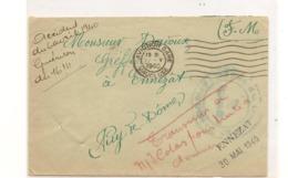 FRANCE Année 1940 ENVELOPPE EN F.M.  DE AVIGNON POUR ENNEZAT - Marcophilie (Lettres)