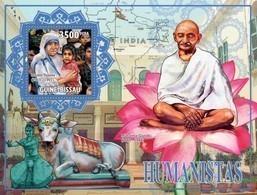 Guinea-Bissau, 2010. [gb10402] Humanists (Mahatama Gandhi, Mother Teresa) (s\s+block) - Mahatma Gandhi