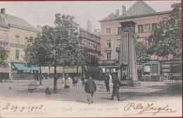 Gent Gand - Le Marche Aux Legumes Groentenmarkt Ingekleurd Chromatografie 1903 W. Hoffmann Dresden Geanimeerd - Gent