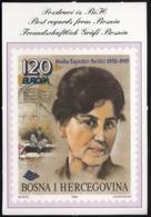 Bosnia And Herzegovina 1996 / Best Regards / Stamp / EUROPA Stamps - Famous Women, Nasiha Kapidzic Hadzic - Stamps (pictures)